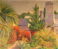tropical garden in burmuda by william edwin atwood