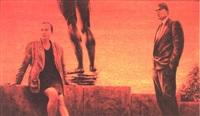 kvinna och man vid mur by john jacobson