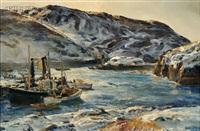 monhegan fishermen by andrew winter