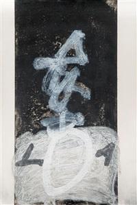 cal.ligrafía vertical by antoni tàpies