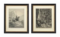 the history of don quixote (12 works) by gustave doré