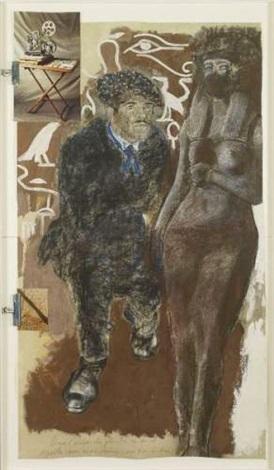le coin cinema du peintre avec hieroglyphes by jean le gac