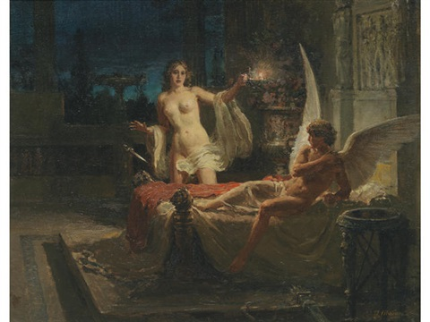cupid and psyche by fortunino matania on artnet