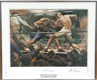 jack dempsey vs. gene tunney by gustav rehberger