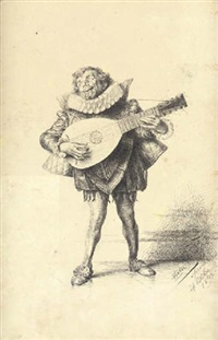 giullare with guitar by edoardo gelli