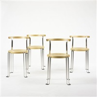 b4 chairs (set of 4) by börge lindau