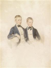 doppelporträt zweier brüder by alois von anreiter