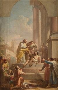san pedro y el tullido, boceto by d. francisco bayeu y subias