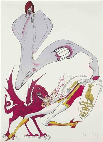 prince charlessrichard nixonaristotleanotherhugh heffner landscape usarevolutionvanessathe marquisand untitled 10 works by gerald scarfe