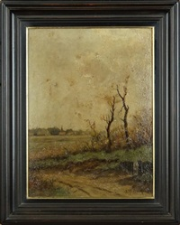paysage de campagne by johannes wilhelm van der heide