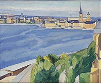 utsikt mot riddarholmen stockholm by victor axelson