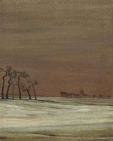 bäume im schnee by franz lenk