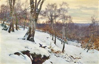 sunset on a winter's afternoon by walter follen bishop