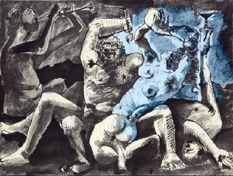 bacchanale by pablo picasso