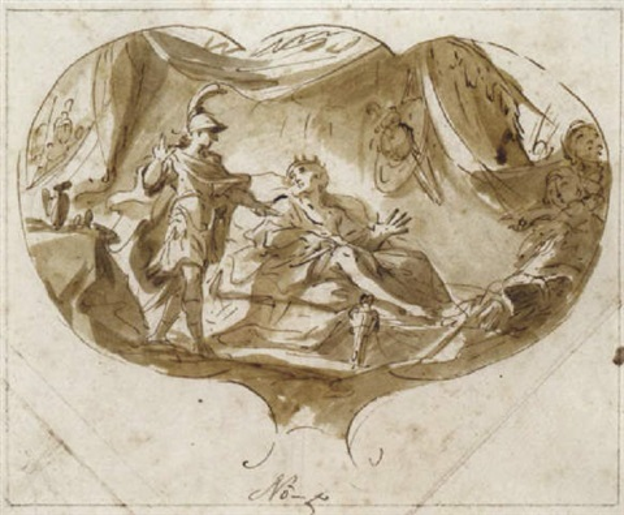 alexander und der verwundete und gefangene könig poros by martino altomonte