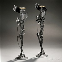 candlesticks (pair) by albert paley