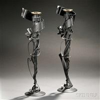 candlesticks (pair) by albert paley