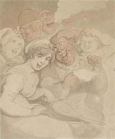 the revellers by thomas rowlandson