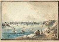 utsigt af stockholm tagen ifrån långholmen (from svenska vuer) by johan fredrik martin