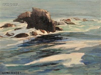 coastal rocks by clyde eugene scott