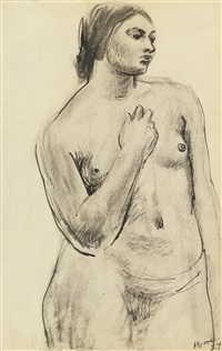 study of a female nude by henry moore