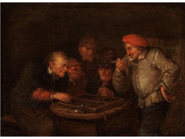bauern beim brettspiel by egbert van heemskerck the elder