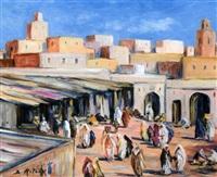 marchés au maroc (+ 3 others; 4 works) by bruno retaux