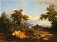 country landscape with mountain by carlo marko