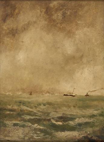 vapeurs en mer du nord by alfred stevens