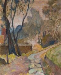 viale con alberi by paolo (stamaty) rodocanachi