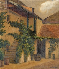 entrance to a house by ferdinand zach