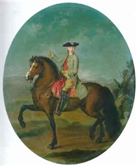 an equestrian portrait of francis, duke of lorraine by francesco liani
