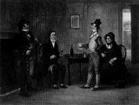 the rev. mr. stiggins and the wellers visit mr. pickwick in the fleet prison by george fox