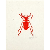 beetle; flea, floral/fauna; gorilla (4 works) by leonard baskin