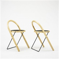 be plus b+ folding chairs (pair) by börge lindau