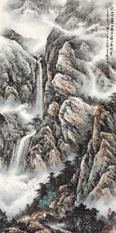高山流水 (landscape) by tang binggeng