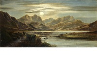 loch lubnaig (+ llyn graffnant, north wales; 2 works) by charles leslie