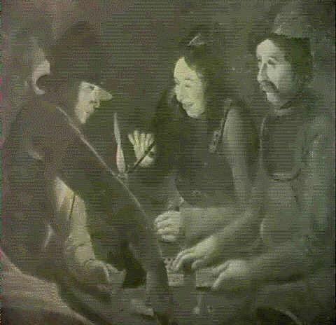 soldats jouant aux cartes by georges de latour