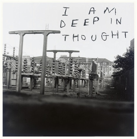 i am deep in thought record album by david shrigley