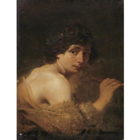 a shepherd playing a flute by johann liss