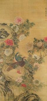 牡丹图 by qian xuan