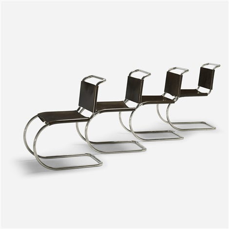 mr 10 chairs set of 4 by ludwig mies van der rohe