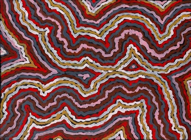 le rêve du ver de terreworm dreaming by clifford possum tjapaltjarri
