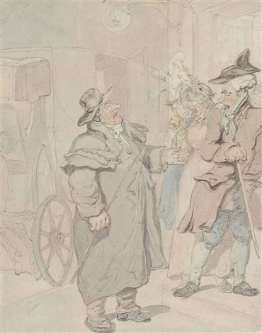 a dispute over the fare by thomas rowlandson
