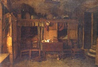 a cottage interior by william baxter collier fyfe