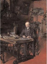 portrait d'homme à son bureau by henri victor lesur