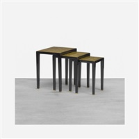 nesting tables (set of 3) by jacques adnet