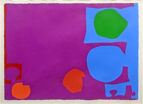 three reds in magenta by patrick heron