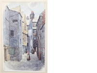 five watercolour views of glasgow (5 works) by david small