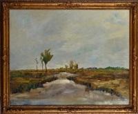 paysage au moulin by frans van leemputten